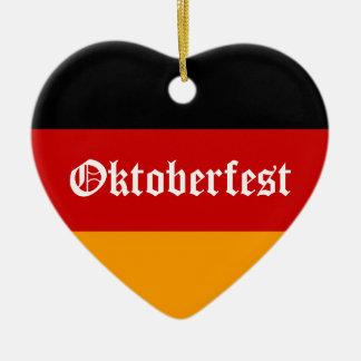 Oktoberfest Heart Ceramic Ornament