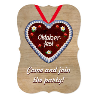 Oktoberfest Invitation with a Gingerbread Heart