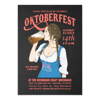 Oktoberfest Invitations Oktoberfest Girl