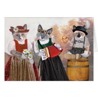 Oktoberfest Kitten Greeting Card