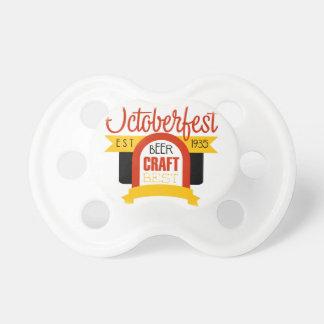 Oktoberfest Logo Design Template Pacifier