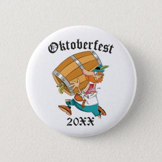 Oktoberfest Man With Keg 2 Inch Round Button