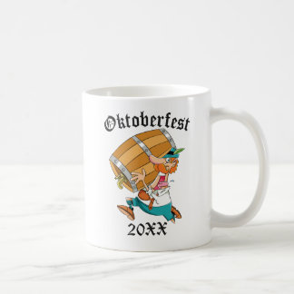 Oktoberfest Man With Keg Coffee Mug