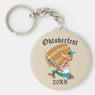 Oktoberfest Man With Keg Keychain