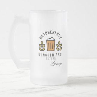 Oktoberfest Munchen Fest Frosted Glass Beer Mug