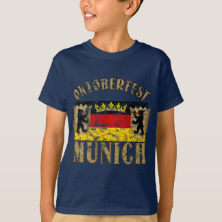 Oktoberfest Munich Distressed Look Design T-Shirt