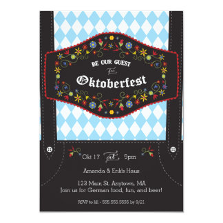 Oktoberfest (Octoberfest) German Party Invitation