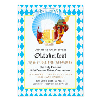 Oktoberfest Party and Celebration Card