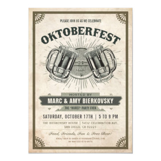 Oktoberfest Party Invitation | Vintage Retro