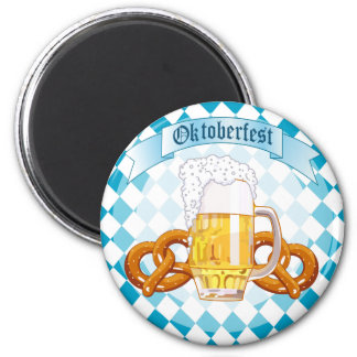 Oktoberfest Pretzels & Beer Magnet