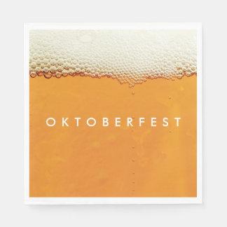 Oktoberfest. Real Beer Suds. Paper Napkin