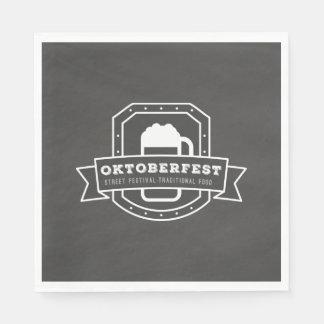 Oktoberfest Street Festival on Chalkboard Disposable Napkin