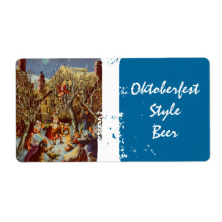 Oktoberfest Style Homebrew Beer Labels Party Night