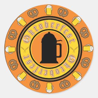 Oktoberfest Tankard Badge Classic Round Sticker