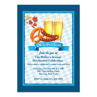 Oktoberfest Treats Invitation