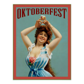 Oktoberfest  ~ Vintage Bavarian Advertising Poster