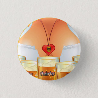 Oktoberfest Waitress Girl Button