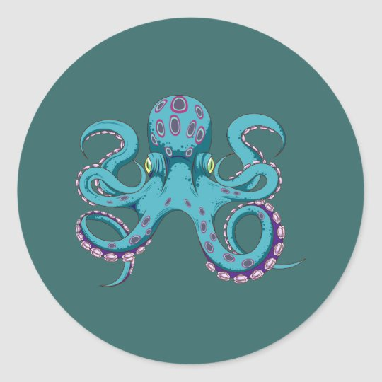 Oktopus Krake octopus kraken Classic Round Sticker