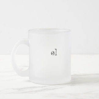 øl frosted glass coffee mug