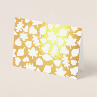 Ol Lifestyle Autumn foil occasion card (Gold Foil)