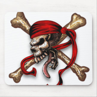 Ol Pirate Skull Mouse Pad
