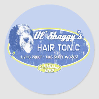 Ol' Shaggy's Hair Tonic Classic Round Sticker