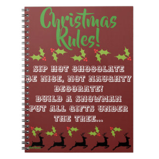 OL Xmas Christmas Rules Notebook