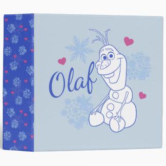 Olaf and Snowflakes Binders