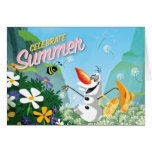 Olaf, célèbrent l'été carte de vœux