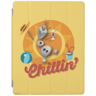 Olaf | Chillin' in Orange Circle iPad Cover