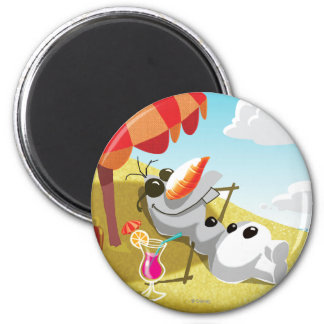 Olaf | Chillin' in the Sunshine 2 Inch Round Magnet