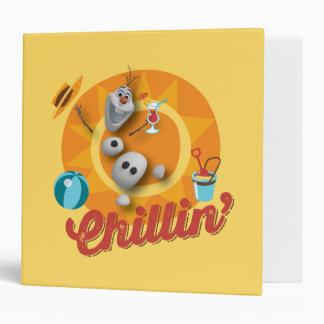 Olaf Chillin' Vinyl Binder