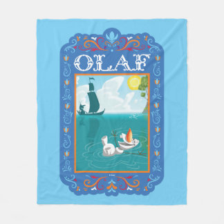 Olaf | Floating in the Water Fleece Blanket