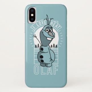 Olaf | I Love Heat iPhone X Case