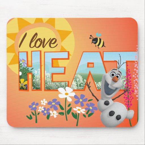 Olaf I Love the Heat Mousepads