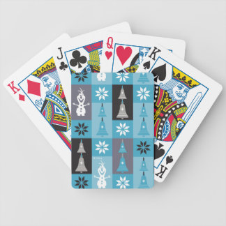 Olaf | Let the Holiday's Begin Pattern Bicycle Playing Cards