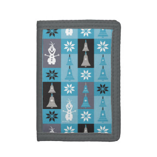 Olaf | Let the Holiday's Begin Pattern Trifold Wallets