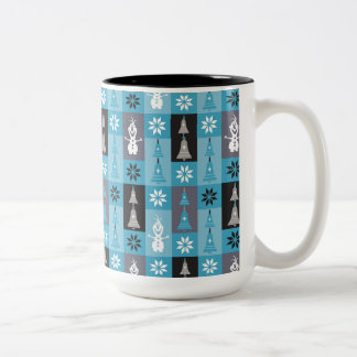 Olaf   Let the Holiday's Begin Pattern Two-Tone Coffee Mug