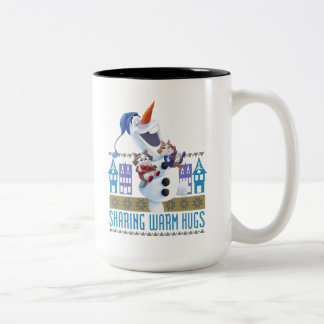 Olaf | Sharing Warm Hugs Two-Tone Coffee Mug