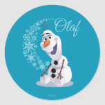 Olaf Snowflakes Classic Round Sticker