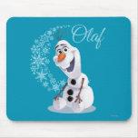 Olaf Snowflakes Mousepad