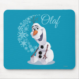 Olaf Snowflakes Mouse Pad