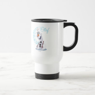Olaf Snowflakes Stainless Steel Travel Mug
