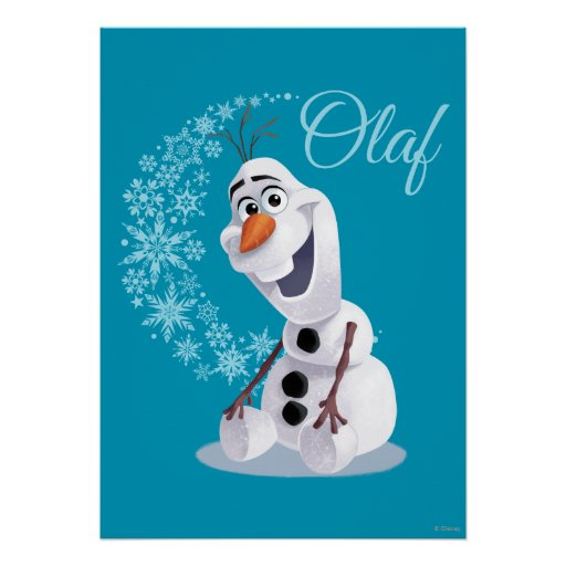 Olaf Snowflakes Poster