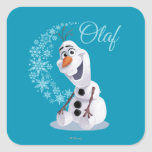 Olaf Snowflakes Square Sticker