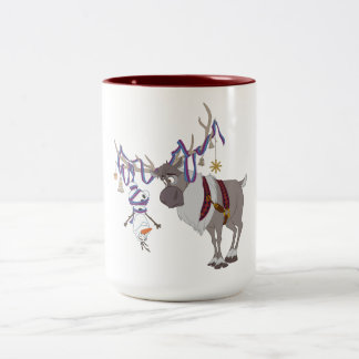 Olaf & Sven | Decked out in Holiday Style Two-Tone Coffee Mug