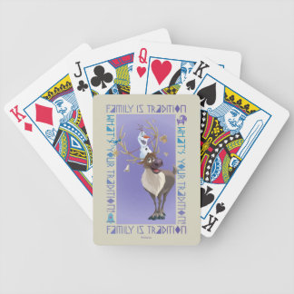 Olaf & Sven | Family is Tradition Bicycle Playing Cards