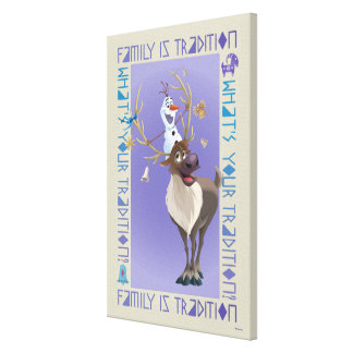 Olaf & Sven | Family is Tradition Canvas Print