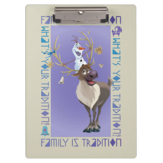 Olaf & Sven | Family is Tradition Clipboard