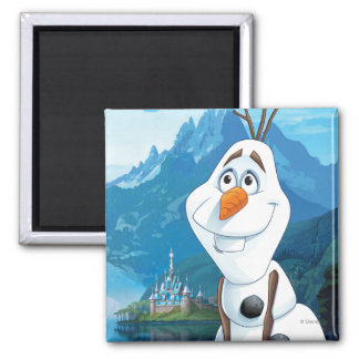 Olaf | Today Will be Perfect Square Magnet